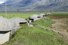 Row of bunkers Royalty Free Stock Photography