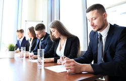 Row of business people Royalty Free Stock Photography