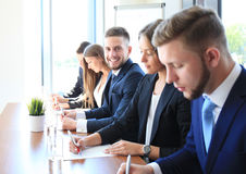 Row of business people Royalty Free Stock Images