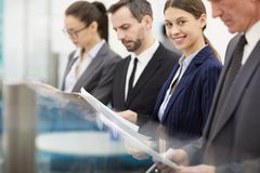 Row of Business People stock image
