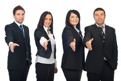Row of business people welcoming Royalty Free Stock Photography