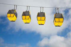 Row of cable cars Stock Photos