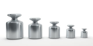 Row of calibration weights Royalty Free Stock Image