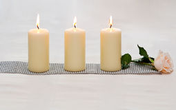Row of candles. Stock Photography