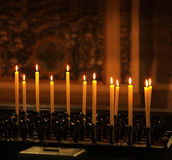 Row of candles Royalty Free Stock Image