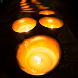 Row of candles Stock Photography