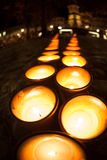 Row of candles Royalty Free Stock Images