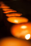 Row of candles Royalty Free Stock Photos