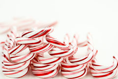 Row of Candy Canes Stock Photo