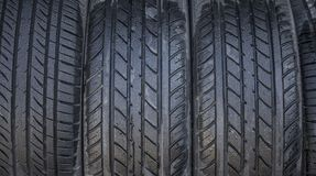 Wet Tires Close Up royalty free stock photo