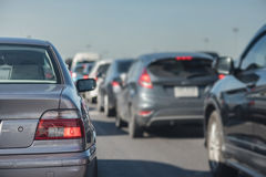 Row of car with traffic jam Stock Photography