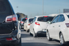 Row of car with traffic jam Royalty Free Stock Photography