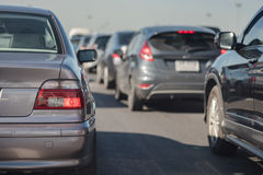 Row of car with traffic jam Royalty Free Stock Image