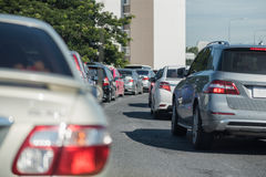 Row of car with traffic jam Royalty Free Stock Photo
