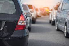 Row of car with traffic jam Stock Image