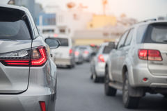 Row of car with traffic jam Royalty Free Stock Photos