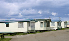 Row of caravan trailers Royalty Free Stock Photos