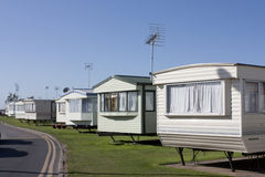 Row of caravans Stock Photography