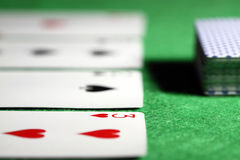 Row of cards Royalty Free Stock Image