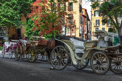 Row of Carriages Stock Photography