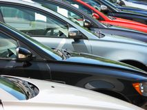 Row of cars Royalty Free Stock Photography
