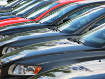 Row of cars. For sale Royalty Free Stock Photo