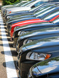 Row of cars. For sale Stock Image