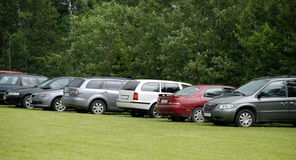 Row of Cars Royalty Free Stock Images