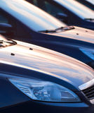 Row of cars. Abstract background Stock Image