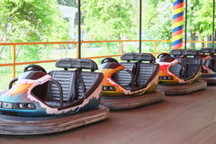 Row of  Cars on  Amusement Ride Stock Image