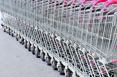 Row of  cart market Royalty Free Stock Images