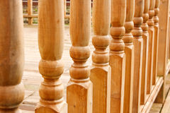 Row of carved Balustrades. Row of balustrades on raised garden walkway or path royalty free stock photos