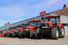 Row of Case IH Agricultural Tractors Stock Photography