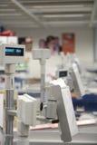 Row of cash desks Stock Photo