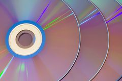 Row of CDs overlapping Royalty Free Stock Images
