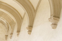 Row of ceiling arches Royalty Free Stock Photography