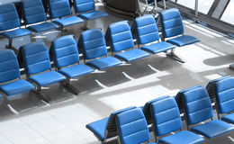 Row of chair at airport. Royalty Free Stock Photography