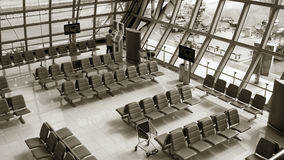 Row of chair at airport. Stock Images
