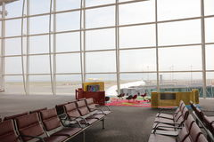 Row of chair at airport, shot in asia Royalty Free Stock Images