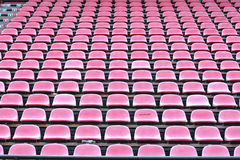Row of chair in football stadium Stock Images