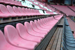 Row of chair in football stadium Royalty Free Stock Photos