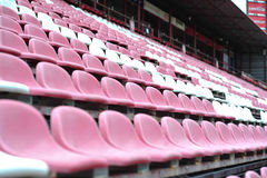 Row of chair in football stadium Stock Photo