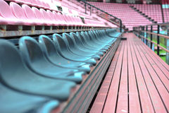 Row of chair in football stadium Royalty Free Stock Image