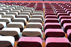 Row of chair in football stadium Stock Image