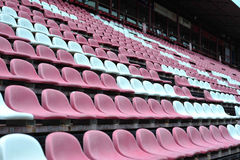 Row of chair in football stadium Stock Photography