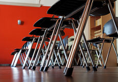 Row of chairs. Royalty Free Stock Images