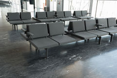 Row of  chairs at airport Stock Photography