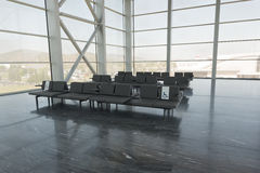 Chairs at airport Royalty Free Stock Photos