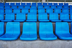 Row of chairs in arena. Royalty Free Stock Photos