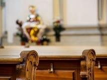 Row chairs in church Stock Photos